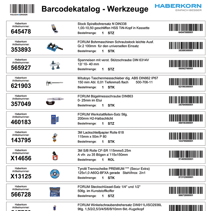 barcode katalog haberkorn gmbh. Black Bedroom Furniture Sets. Home Design Ideas